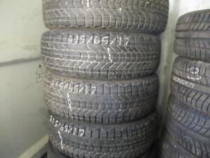 215/65 R17 FIRESTONE WINTERFORCE *STUDABLE*  WINTER TIRES USED SNOW TIRES (SET OF 4) - APPROX. 85% TREAD