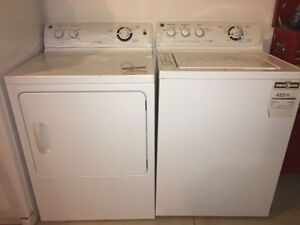 GE Super Capacity Washer with Power Rinse & Electric Dryer Set