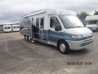 2001 HOBBY 750 4 BERTH LHD FIXED BED MOTORHOME WITH ONLY 41K MILES ANDERSON CARAVAN SALES