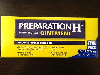 - Preparation H Hemorrhoidal Ointment-Twin Pack 2 Tubes each 2 oz/ net 4 oz, 2020