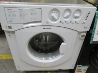 ***INTEGRATED HOTPOINT+6.5KG DRUM WASHING MACHINE/SUPER SILENT+GOOD CONDITION/VERY CLEAN+FREE DELIVE