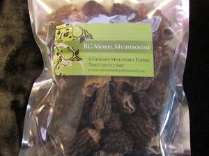 Quality Dried BC Morel Mushrooms, $7/oz