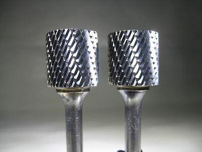 Lot 2 New Sgs 34 Carbide Burs Deburring Aluminum Rotary Burr Tool Bits