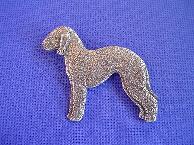 Bedlington Terrier Pin STANDING #90A Pewter Dog Jewelry by Cindy A. Conter