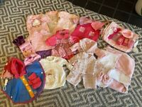 Huge Bundle of Baby Doll's Clothes & Accessories (Baby Born / Baby Annabell 43cm)