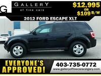 2012 Ford Escape XLT $109 bi-weekly APPLY NOW DRIVE NOW