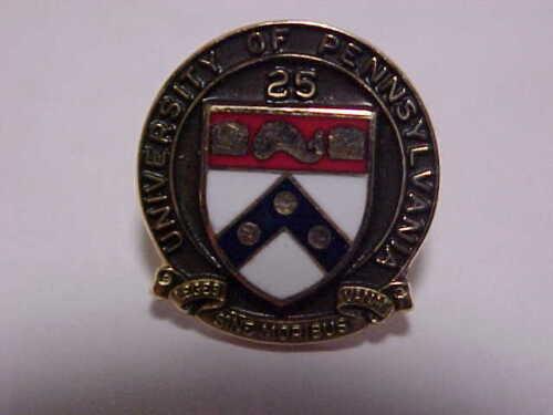 10K Gold University Of Pennsylvania 25 year pin