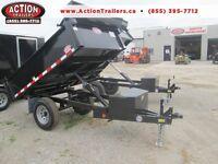 Single axle dump trailer - Comes loaded w/tarp kit and tool box