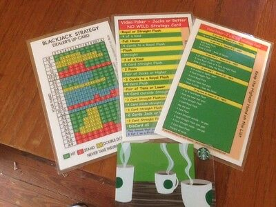 Set of Large Casino Strategy Cards