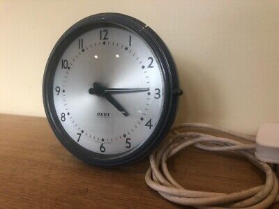 Vintage - Gent of Leicester Electric Wall Clock - Lovely - Fully Working