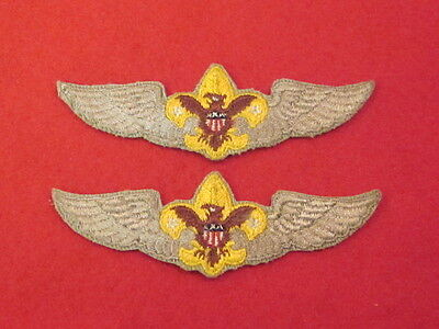 A PAIR OF (2) VERY NICE BOY SCOUT PATCH AIR EXPLORER UNIVERSAL WINGS 1949-1966