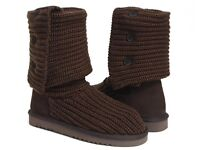 Brown Knit Ugg Boots - Size 7 - Ladies - Worn Once