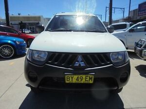 2008 Mitsubishi Triton ML MY09 GLX White 4 Speed Automatic 2D Cab Chassis Holroyd Parramatta Area Preview