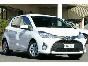 2015 Toyota Yaris NCP131R SX Glacier White 4 Speed Automatic Hatchback Christies Beach Morphett Vale Area Preview