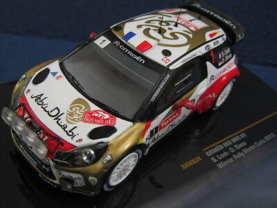 Citroen DS3 WRC Sebastien Loeb Monte Carlo 2013 IXO RAM534 Scale 1:43