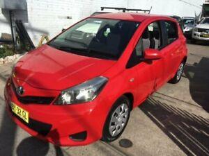 2011 Toyota Yaris NCP131R YRS Red 5 Speed Manual Hatchback