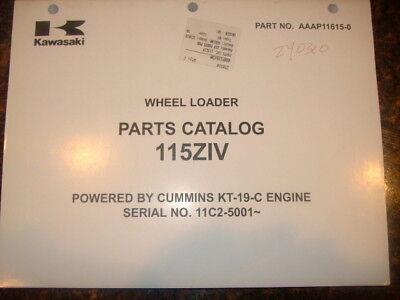 Kawasaki 115ziv Wheel Loader Parts Catalog Manual
