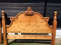 Beautiful Ornate Kingsize Pine Bed