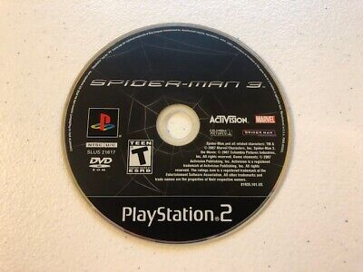 Spider-Man 3 (Sony PlayStation 2, 2007)  PS2 - DISC ONLY