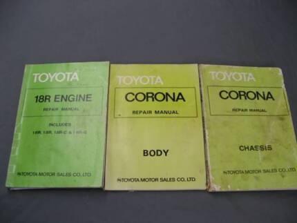 Toyota Corona 1976-79 16R, 18R repair manuals Caringbah Sutherland Area Preview