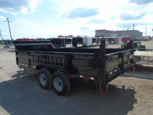 GET THE LARGEST 7 TON DUMP TRAILER 7 X 16'  & PAY $190 MONTHLY London Ontario image 4
