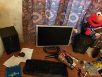 Home recording pc with Cubase,midi keyboard,pc,synthesizer software,preamp,cables etc