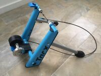 Turbo Trainer Tacx Blue folding. In excellent condition complete with all mounting accessories