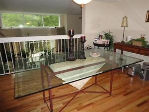 **** Large Glass Dining Table + Other Items ****