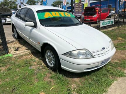 1999 Ford Falcon AU Classic White 4 Speed Automatic Sedan Clontarf Redcliffe Area Preview