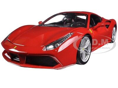 FERRARI 488 GTB RED 1:18 DIECAST MODEL CAR BY BBURAGO 16008