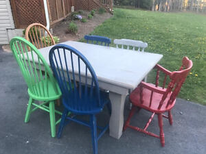 Rustic Table and 6 Chairs