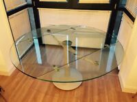 Naos Atlante 160cm Folding Glass Circular Dining Table