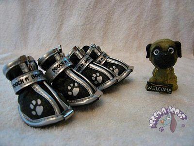(PB Designer Black Dog shoes/boots Size 1/XS Chihuahua)