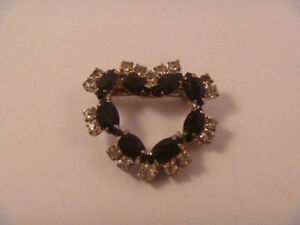 Heart-Shaped Brooch With Beautiful Stones