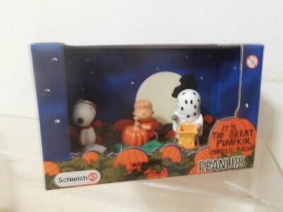 Snoopy Peanuts Schleich Pack Box 3 x Figur Halloween: Linus Kürbis,Großer Kürbis ()
