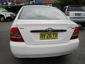 2006 Toyota Corolla ZZE122R Ascent White 4 Speed Automatic Sedan Greenacre Bankstown Area Preview
