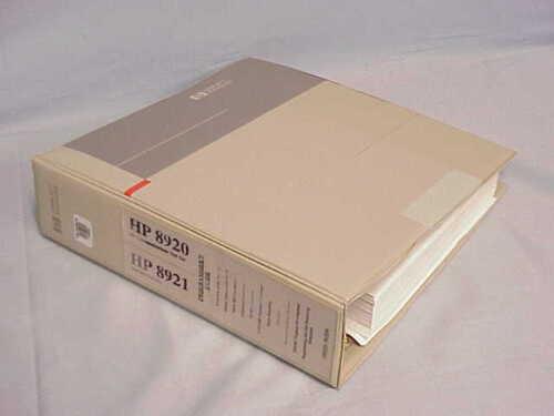 HP 8920 & 8921 Test Set Programmer
