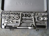 """Rahsol by Gedore 24 pce ½"""" Drive Socket Set, Metric 11mm – 28mm, Made in Germany."""