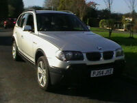 54 REG BMW X3 2.5i AUTOMATIC SPORT 4X4 5 DOOR ESTATE IN SILVER HPI CLEAR