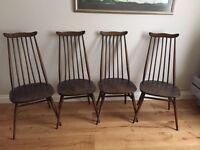 4 Ercol Goldsmith Chairs, £160