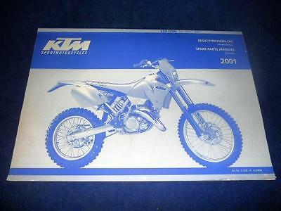 KTM Spare Parts Manual Chassis 2001 125 200 SX MXC EXC