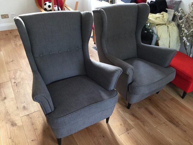 Ikea STRANDMON 1 Seater Wing Chair Sofa