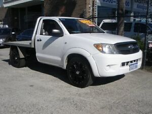 2008 Toyota Hilux GGN15R 08 Upgrade SR White 5 Speed Manual Cab Chassis Wangara Wanneroo Area Preview
