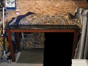 Black and Gold Marble table