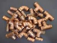 JOB LOT OF COPPER PIPE FITTINGS