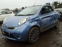 2008 NISSAN MICRA ACENTA CC CONVERTIBLE 1.6 PETROL BLUE DAMAGED SALVAGE REPAIR CAT C