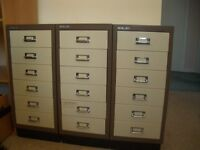 Three metal Bisley Filing Cabinets