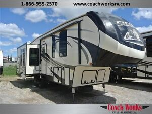 Headed south this winter? Check out the classy 35' 5th Wheel