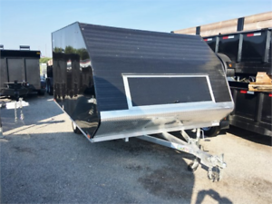 Aluminum 2 Place Hybrid Sled Trailers In Stock