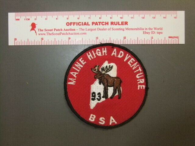 Boy Scout Maine High Adventure Base 1993 Patch 4148BB